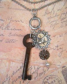 WANT! vintage key necklace