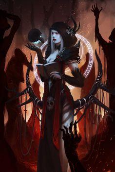 Witch of fire by HikariYumiya.deviantart.com on @DeviantArt