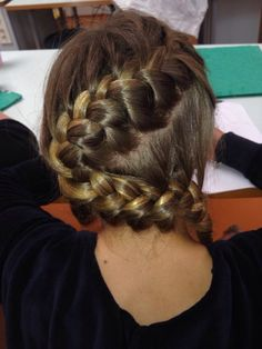 Criss-cross french braid ❤️