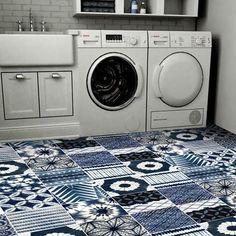 Shibori Indigo Tile Decals Tiles for Kitchen/Bathroom Back Home Design, Floor Design, Wall Design, Floor Decal, Floor Stickers, Shibori, Cute Apartment Decor, Tile Decals, Scrappy Quilts