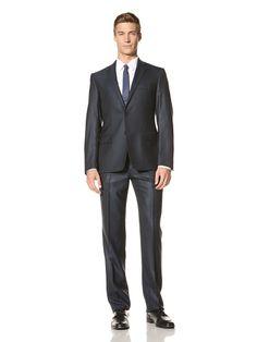 65% OFF Versace Collection Men\'s Nailhead Suit (Navy)