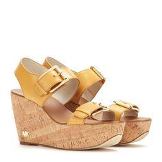 mytheresa.com - Sandali Warren in pelle con zeppa - Tacco alto - Sandali - Scarpe - MICHAEL Michael Kors - Luxury Fashion for Women / Designer clothing, shoes, bags