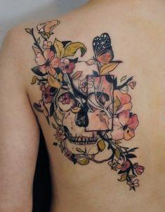 http://tattoo-ideas.us/wp-content/uploads/2013/10/Abstract-Floral-Skull.jpg Abstract Floral Skull