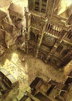 Notre Dame de Paris - illustrations by Benjamin Lacombe