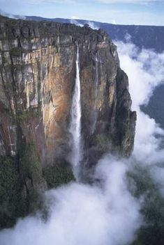 UNESCO World Heritage Site - Canaima National Park in Venezuela includes Mount Roraima and Angel Falls.