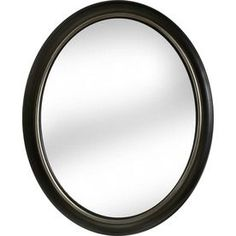 allen + roth 24-in x 30-in Oil-Rubbed Bronze Oval Framed Wall Mirror for upstairs bathroom over round vanity