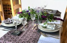Trefoil fabric in dining room set up www.lupinlark.com