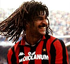 Ruud Gullit - HFC Haarlem, Feyenoord, PSV Eindhoven, AC Milan, Sampdoria, Chelsea, Netherlands.