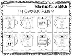 FREE Christmas Addition and Subtraction {Marshmallow Math} {Great for Polar Express!}