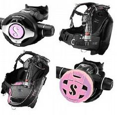 All pink scuba sets. Almost there, just need the pink reg!