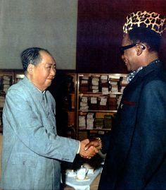 Mao and Mobutu (Zaire's president), 1973.