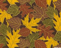 Falling Leaves - Tonal Foliage - Chocolate Brown