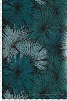 Papier Peint coconut vert et noir - Jungle de Caselio | Réf. JUN100047818