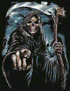 Fear the Reaper, Grim Reaper Art, Grim Reaper Tattoo, Grim Reaper Images, Gothic Wallpaper, Skull Wallpaper, Dark Fantasy Art, Dark Art, Reaper Drawing, Totenkopf Tattoos