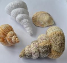 Knitted Spiral Shell's