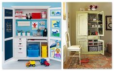 craft cabinet for kids who've outgrown a playroom
