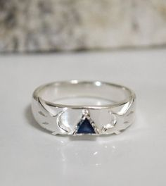 Custom Made Sapphire Tri-Force Legend Of Zelda Inspired Engagement Ring