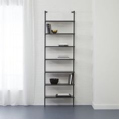 "stairway grey 96"""" wall mounted bookcase"