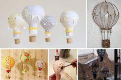 Réutiliser des ampoules brûlées - montgolfières