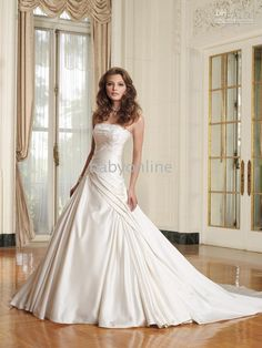 5af6df5334d Wholesale 2011sweetheart beaded pleated sweep Train Beadings Satin wedding  dresses wedding gowns