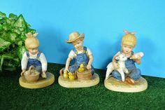 Denim Days Figurines - Homco Farm Kids