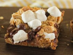 S'mores Bars recipe from Trisha Yearwood via Food Network...these look so good! Will have to try.