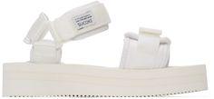 Suicoke - White Cel-VPO Flatform Sandals