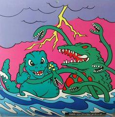 """jimpluff: """"Godzilla vs Biollante! """""""