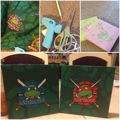Teenage Mutant Ninja Turtles Bedroom Ideas old sheets into pictures