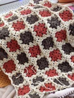 ちいさめのブランケット01 #Crochet