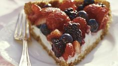 Treat your family to this mixed berry pie that's made using Cascadian Farm® fruit spread and Yoplait® Lactose Free yogurt - a flavorful dessert.