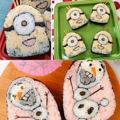 Sushi Roll Minions & Olaf