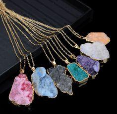 Brazilian Agate Necklace, Multiple Colors