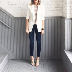 A white blazer may be my favorite spring item.