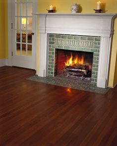 Tiling a fireplace surround is an elegant upgrade well worth the effort. In a few days, you can create an entertainment spot for dinner parties and family holidays