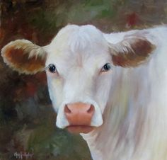 Original Cow Painting Ms Petunia 18x18 Oil on by ChatterBoxArt, $325.00