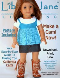 Free patterns for American Girl type dolls (have to add to cart to download).