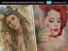 ► VINTAGE WATERCOLOR OVERLAY EFFECT MAKER in Photoshop with customizable settings - easy to use, this file will turn any photo into a Vintage, Grunge Artwork - Product page here: http://www.123creative.com/photoshop-add-ons-graphic-templates-and-projects/1296-vintage-watercolor-overlay-effect-maker.html (vintage watercolor effect, watercolor overlay, vintage effect maker, image to painting, vintage effect maker)
