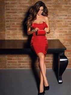 Vestido rojo coqueto