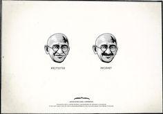 Movember Gandhi Protester or Prophet