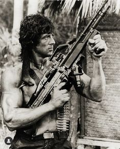 First Blood, Sylvester Stallone Rambo, Iconic Movies, Good Movies, Awesome Movies, Silvestre Stallone, Rambo 2, Movie Stars, Movie Tv