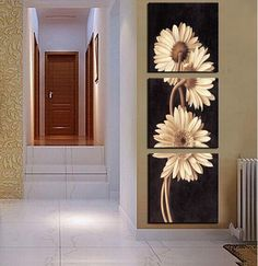 Aliexpress.com : Buy 3 Panel Free Shipping Hot Sell Modern Wall Painting flower Home Wall Art Cheap Picture Paint on Canvas Prints art chrysanthemum from Reliable pictures of modern art suppliers on The global happy purchase | Alibaba Group
