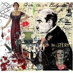 An art collage from August 2008 Agatha Christie's Poirot, Hercule Poirot, Death In The Clouds, Midsomer Murders, David Suchet, Cop Show, Beloved Book, Miss Marple, Lectures