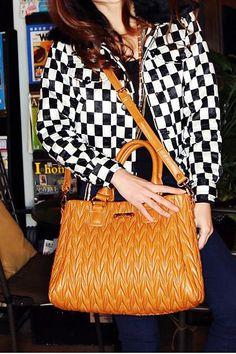 Plain PU Leather Handbag Shoulder Bag