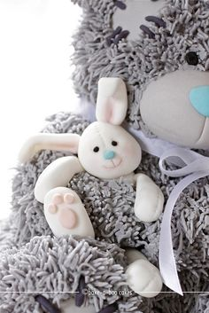 Me to You Bear cake - bunny close-up by Bake-a-boo Cakes NZ, via Flickr