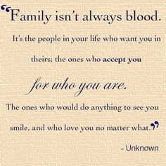 This is a very important part of my life, I have wonderful people that may not be blood but mean as much to me as if they were :)