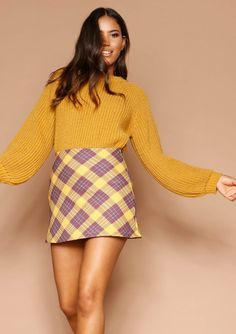 da69682ebba Missyempire - Judith Mustard Check Mini Skirt Mustard, Check Mini Skirt,  Dresses, Fashion