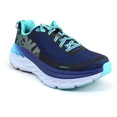 94565f9b83061 Hoka One One Women s Bondi 5 Medieval Blue Blue Radiance - 7 M Women s...  (220 AUD) ❤ liked on Polyvore featuring shoes