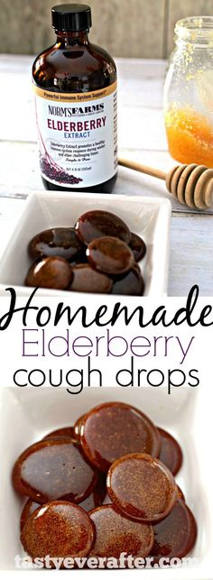 Elderberry Cough Drops Homemade immune boosting, all-natural cough drops made with just 3 ingredients and in less than 20 minutes! Made with Elderberry Extract.Homemade immune boosting, all-natural cough drops made with just 3 ingredients and Cold Remedies, Natural Home Remedies, Herbal Remedies, Health Remedies, Holistic Remedies, Holistic Healing, Bloating Remedies, Be Natural, Natural Health