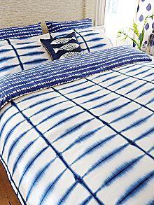 Shibori duvet cover kingsize indigo #HouseofFraser